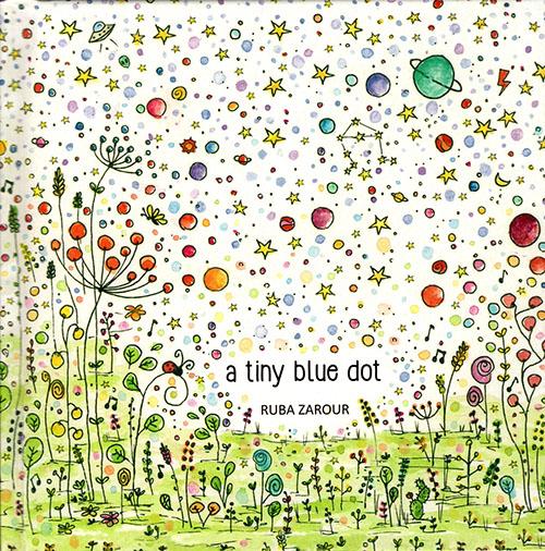 a tiny blue dot